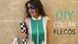 DIY Collar de flecos verde esmeralda / DIY How to make a Fringed Necklace
