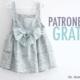 Patrones gratis: vestido de niña doble volante y tirantes
