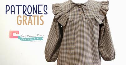 Patrones GRATIS: Camisa vichy para niños con canesú (Talla 2 a 12 años)