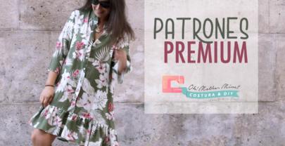Patrones PREMIUM: Vestido con volante mujer (tallas s, m y l)