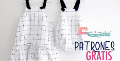 CONJUNTO HERMANOS: Ranita y pichi para hermanos conjuntados (patrones en varias tallas)