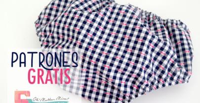 Patrones GRATIS: braguita vichy marino y fucsia para niñas (tallas de 0 a 36 meses)