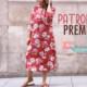 PATRONES PREMIUM: Vestido largo para mujer tipo túnica (tallas 34-44)