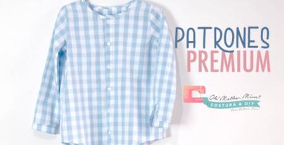 PATRONES PREMIUM: Camisa vichy para niños (tallas 1 – 12 años)
