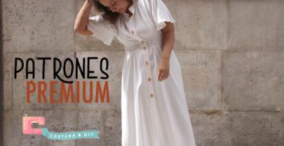 PATRONES PREMIUM: Vestido Blanco mujer (tallas 36 a 44)