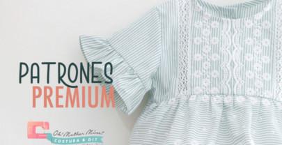 PATRONES PREMIUM: Blusa para niñas (talla de 1 a 10 años)