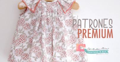 PATRONES PREMIUM: Blusa de tablas para niñas  (talla 3 meses a 5 años)