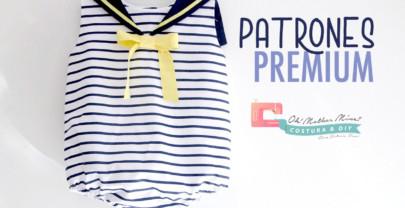 PATRONES PREMIUM: Pelele marinero (tallas de 1 a 36 meses)