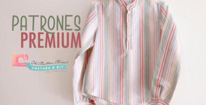 PATRONES PREMIUM: Camisa cuello maho para niños (tallas 1 a 12 años)
