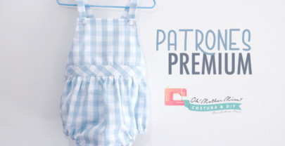 PATRONES PREMIUM: Peto para bebés unisex (tallas de 1 a 36 meses)
