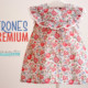 PATRONES PREMIUM: Blusita liberty roja para niñas (tallas de 9 meses a 8 años)