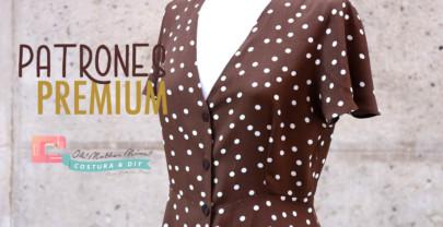 PATRONES PREMIUM: Vestido abotonado para mujer (tallas de 36 a 44)