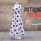 PATRONES PREMIUM: Vestido largo mujer evasé (tallas 36 a 44)