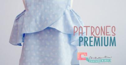 PATRONES PREMIUM: Blusa sin hombros para niñas (talla 3 a 12 años)