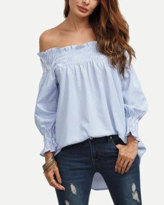 Inspiración #diy #costura #tutorial #patrones #gratis #blusa #mujer Tutorial y patrones gratis: https://www.ohmotherminediy.com/patrones-de-blusa-rizada-para-mujer-sin-hombros/